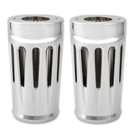 Arlen Ness Deep Cut Chrome Fork Boot Covers for FL Softail Models