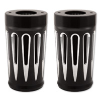 Arlen Ness Deep Cut Black Fork Boot Covers for FL Softail Models