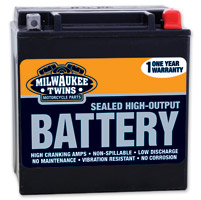 Milwaukee Twins  Maintenance Free Battery