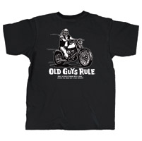 Old Guys Rule Only a Biker Knows T-shirt