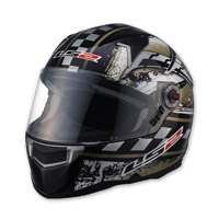 LS2 FF396 CR1 Impact Black Full Face Helmet