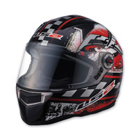 LS2 FF396 CR1 Impact Red Full Face Helmet