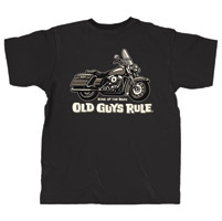 Old Guys Rule King of the Road T-shirt