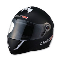 LS2 FF387 Solid Matte Black Full Face Helmet