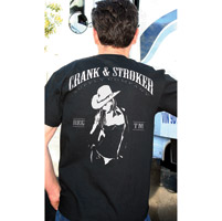 Crank & Stroker Supply Men's Cowgirl Sheriff Black T-Shirt