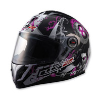 LS2 FF387 8-Ball Purple Full Face Helmet