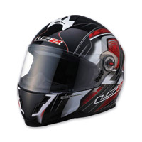 LS2 FF387 Split Red Full Face Helmet