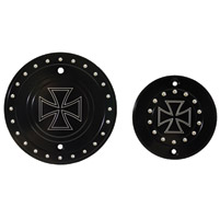Whitewall Choppers Iron Cross Premium Engine-Derby Cover Set