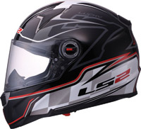 LS2 FF396 FT2 Lucky 7 Black Full Face Helmet