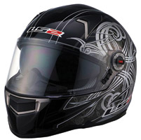 LS2 FF396 FT2 Demon Black Full Face Helmet