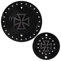 Whitewall Choppers Iron Cross Engine-Derby Cover Set
