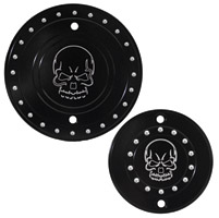 Whitewall Choppers Skull Engine-Derby Cover Set