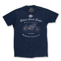 Roland Sands Design Manufacturing Navy T-shirt