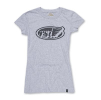 Roland Sands Design Cafe Wing Gray Fitted T-shirt