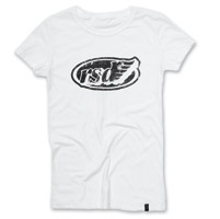 Roland Sands Design Cafe Wing White Fitted T-shirt