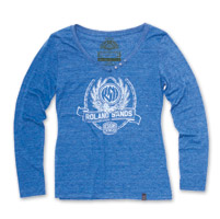 Roland Sands Design Crest Blue Long-sleeved T-shirt