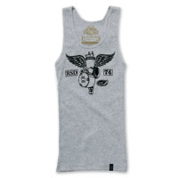 Roland Sands Design Soaring Ladies Gray Tank Top