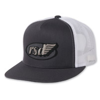 Roland Sands Design Cafe Wing Charcoal/White Trucker Hat