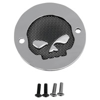 Drag Specialties 2-Hole Chrome Skull Accent Points Cover