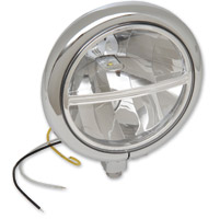 Drag Specialties LED 5-3/4″ Bottom Mount Headlight Assembly