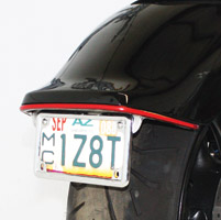 Low and Mean LED Brake and Turn Kit with License Plate Frame