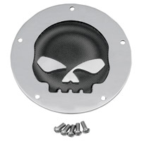 Drag Specialties Chrome Skull Derby Cover