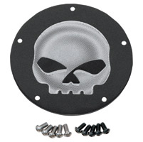 Drag Specialties Wrinkle Black Skull Derby Cover