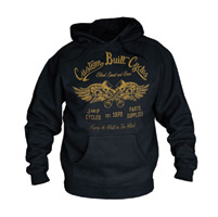 J&P Cycles® Custom Built Black Hooded Sweatshirt