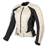 Speed and Strength Heart and Soul Cream/Black Textile Jacket