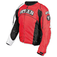 Speed and Strength Top Dead Center Red Textile Jacket