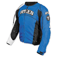 Speed and Strength Top Dead Center Blue Textile Jacket