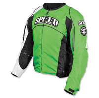 Speed and Strength Top Dead Center Green Textile Jacket