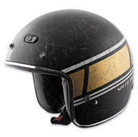 Speed and Strength Restomod SS600 Black/Gold Helmet