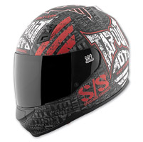 Speed and Strength Tapout Moto SS700 Matte Black/White/Red Helmet