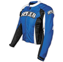 Speed and Strength Throttle Body Blue Textile Jacket