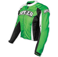 Speed and Strength Throttle Body Green Textile Jacket