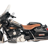 Roland Sands Design Flatout Enzo Distressed Black and Brown Seat