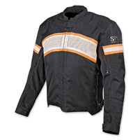 Speed and Strength Cruise Missile Blk/Cream/OrgTextile and Leather Jacket