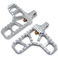 Joker Machine Clear Anodized Adjustable Heel Footpegs