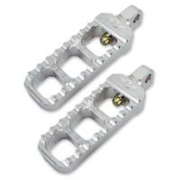 Joker Machine Clear Anodized Adjustable Narrow Footpegs