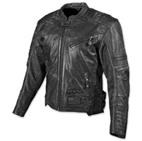 Speed and Strength Bikes Are In My Blood Men's Black Leather Jacket