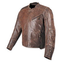 Speed and Strength Rooke Customs Men's Brown Leather Jacket