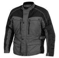 River Road Men's Taos Gray/Black Riding Jacket