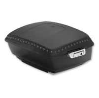 Mustang Black Pearl Center Studded King TourPak Lid Cover