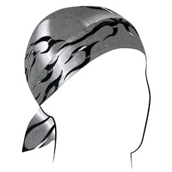 ZAN headgear Tank Flame Silver Flydanna Head Wrap