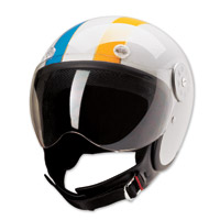 HCI-15 Stripe White Open Face Helmet