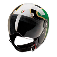 HCI-15 Italian Flag Green, White and Red Open Face Helmet