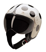 HCI-15 Lady Bug White and Black Open Face Helmet