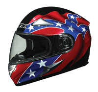 AFX FX-90 Rebel Flag Black Full Face Helmet