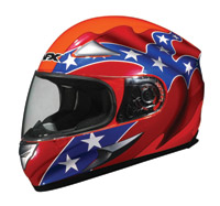 AFX FX-90 Rebel Flag Orange Full Face Helmet